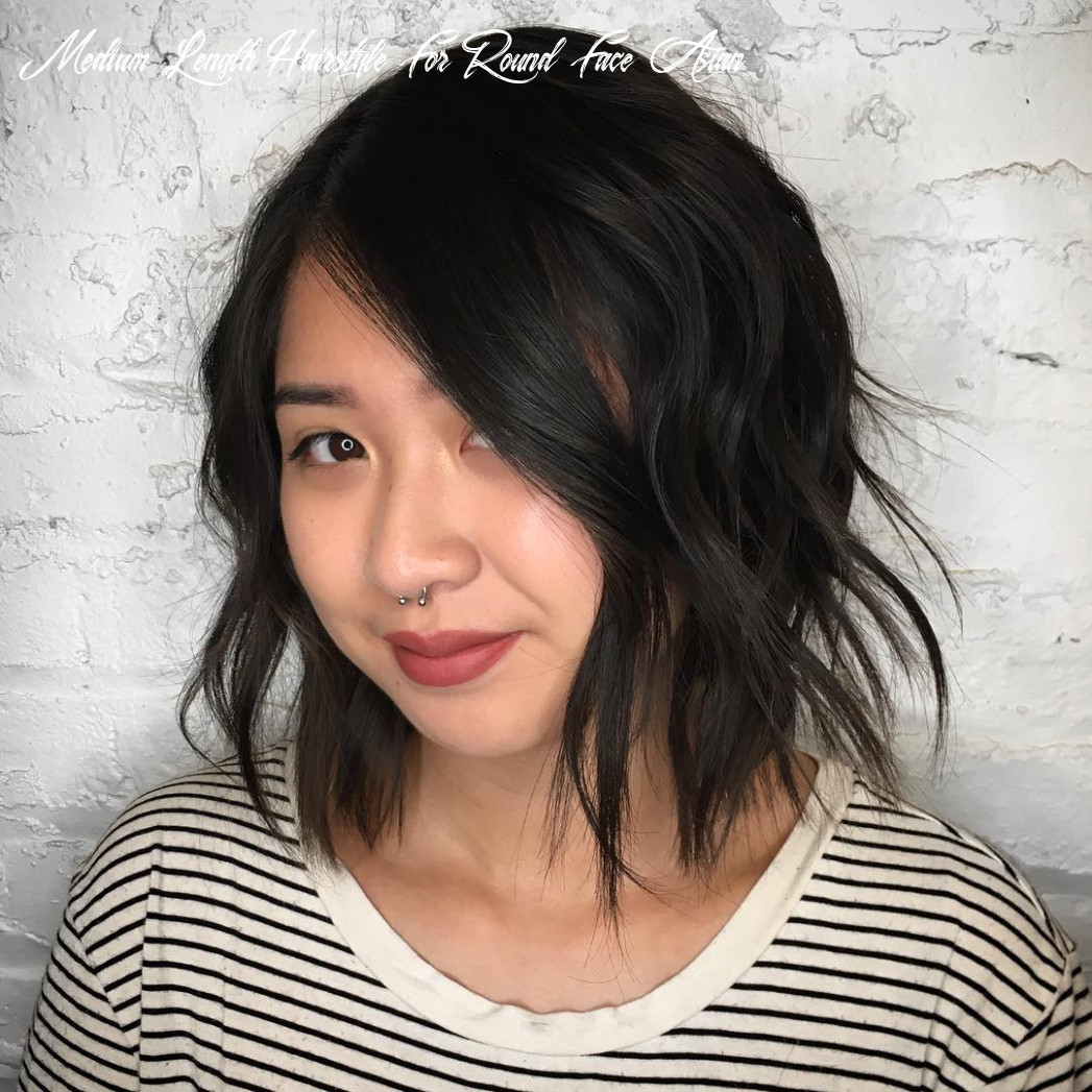 10 amazing haircuts for round faces hair adviser medium length hairstyle for round face asian