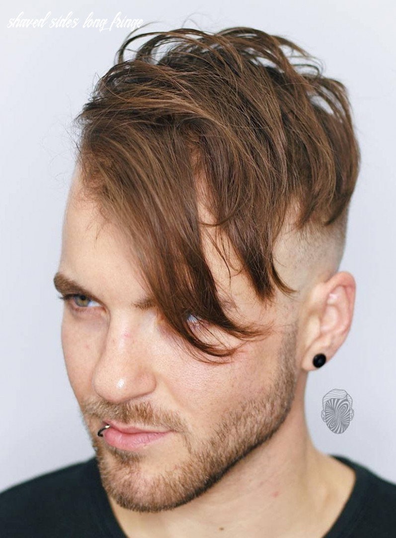 10 angular fringe haircuts: an unexpected 10 trend shaved sides long fringe