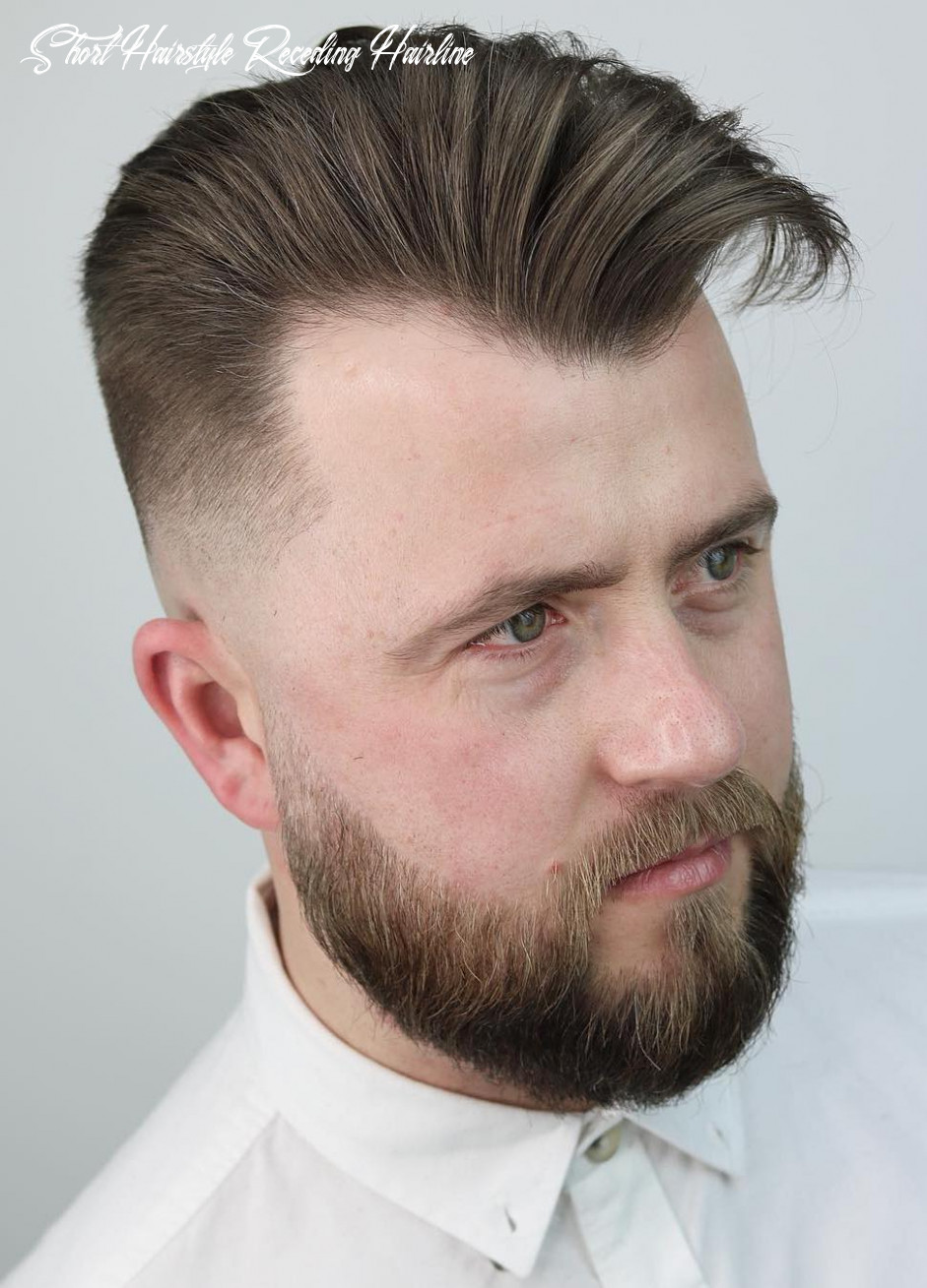 10 best hairstyles for a receding hairline (extended) short hairstyle receding hairline