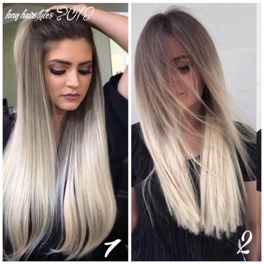 10 best long hairstyles with straight hair, women long haircuts