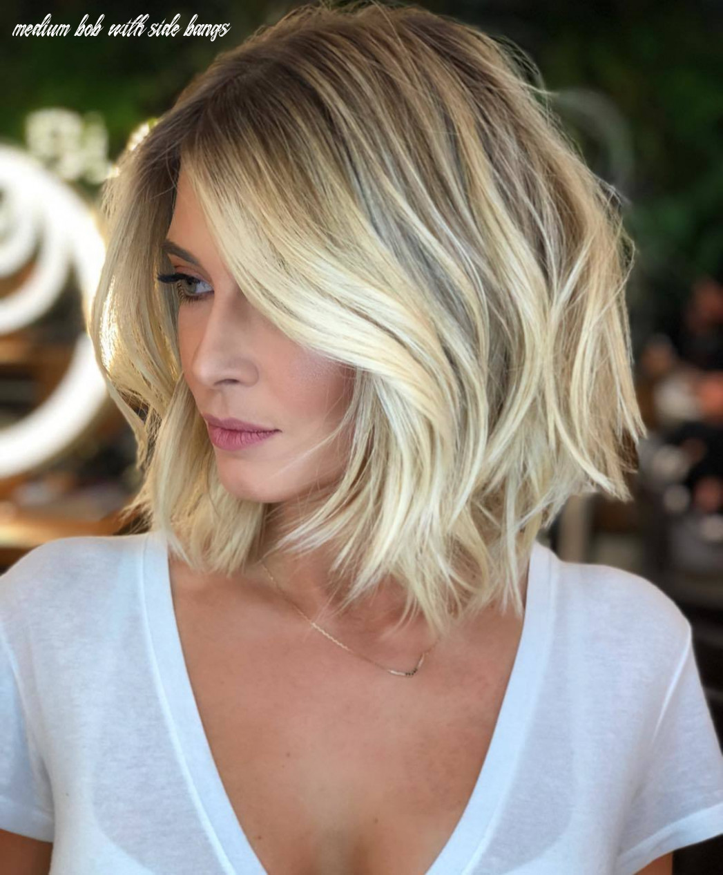 10 best short bobs with bangs haircuts and hairstyles for 10 medium bob with side bangs