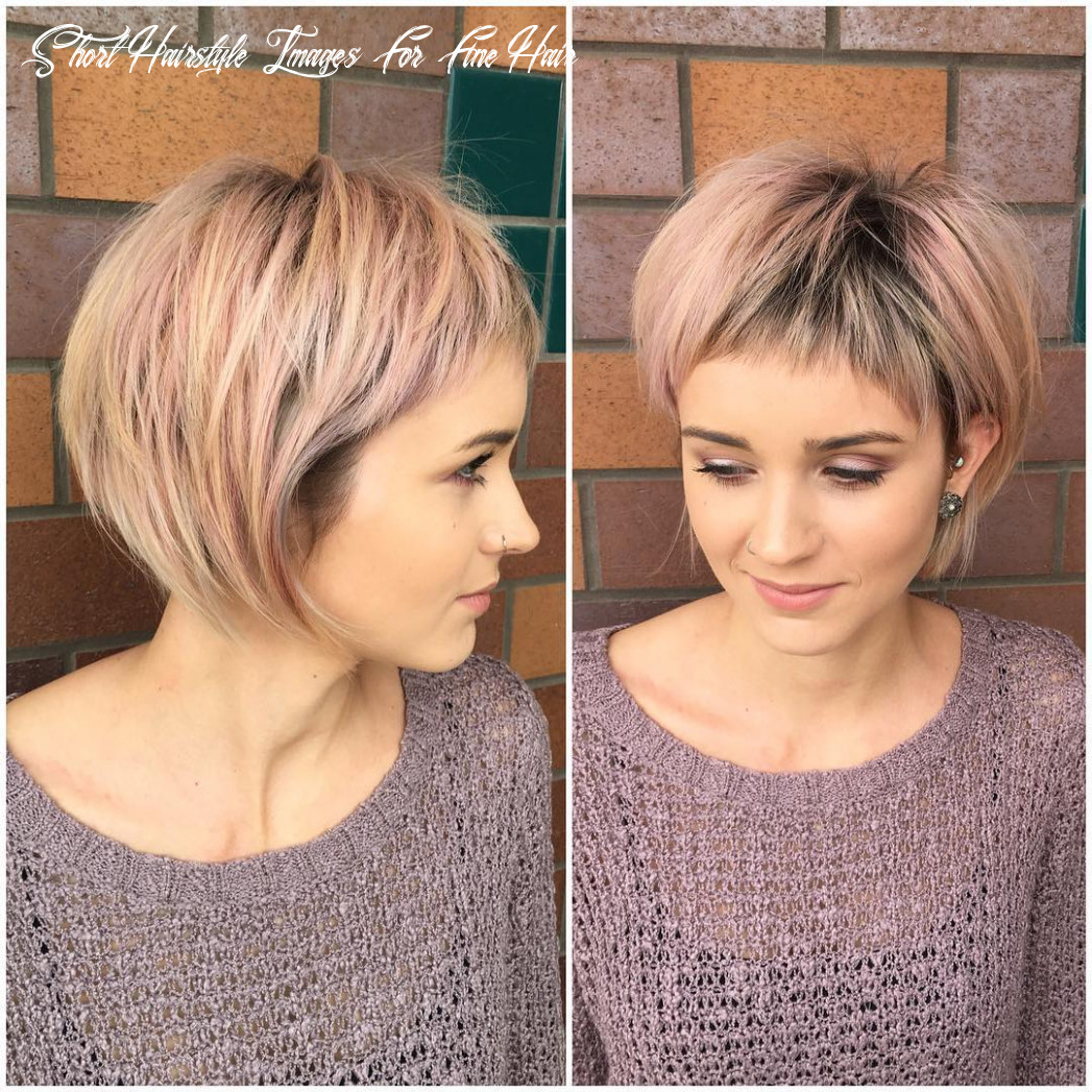 10 best short hairstyles for fine hair 10 short hairstyle images for fine hair