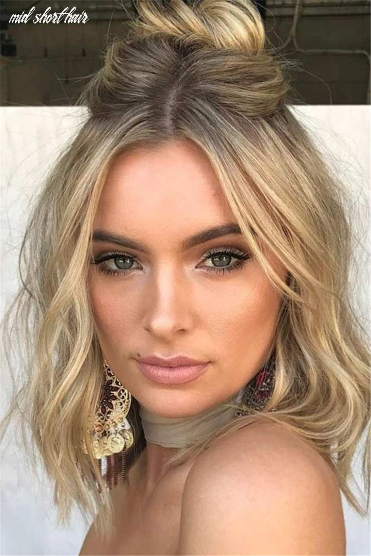 10 best short or mid length hairstyle for spring | prom hairstyles