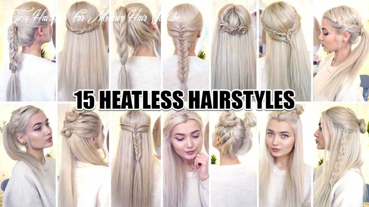 10 braided back to school heatless hairstyles! youtube