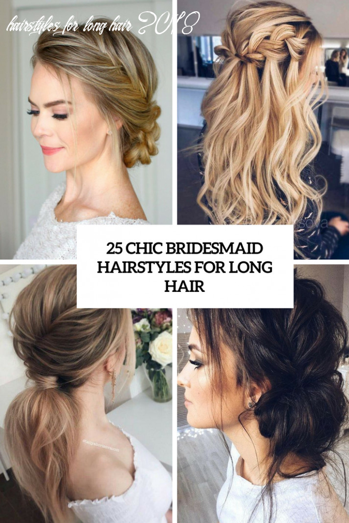 10 Chic Bridesmaid Hairstyles For Long Hair - Weddingomania