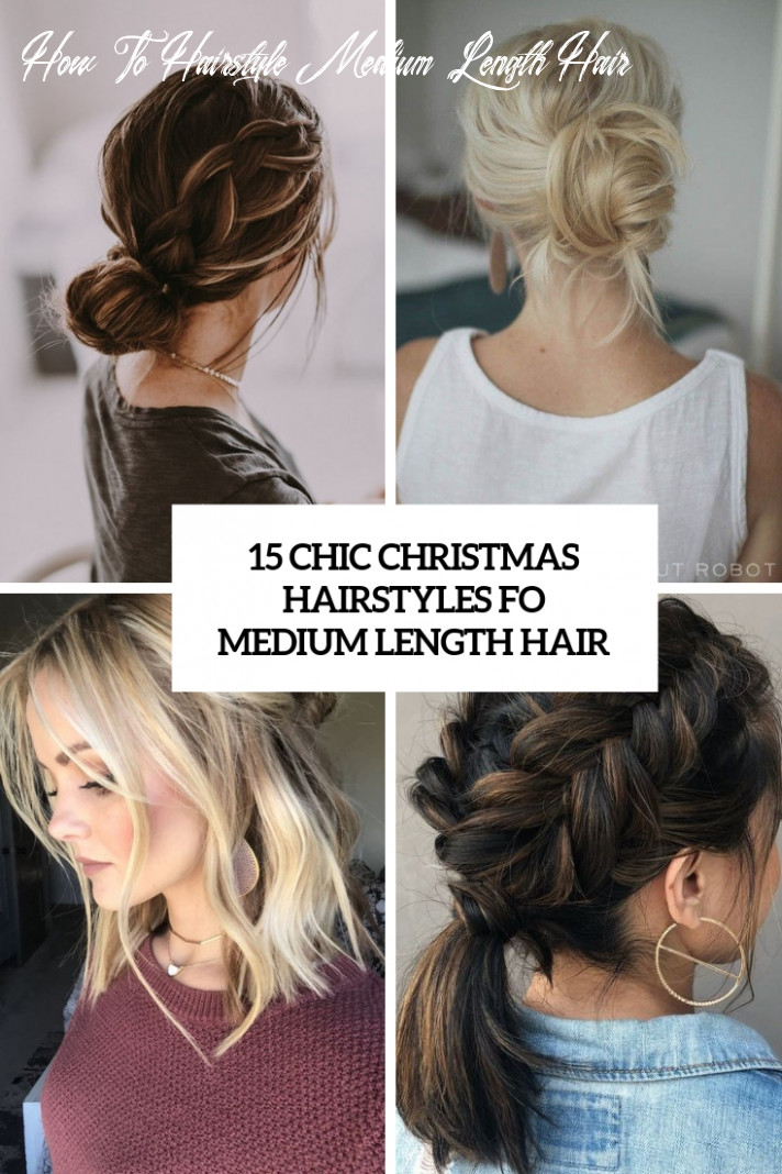 10 chic christmas hairstyles for medium length hair styleoholic how to hairstyle medium length hair