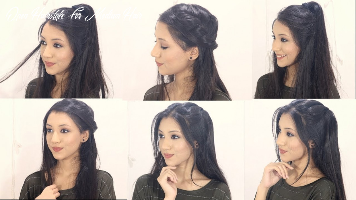 10 cute hairstyles for open hair   beautiful open hair hairstyles open hairstyle for medium hair
