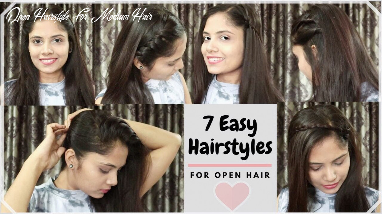 10 different ways to style open hair  everyday quick&easy hairstyles for school/collage/party open hairstyle for medium hair