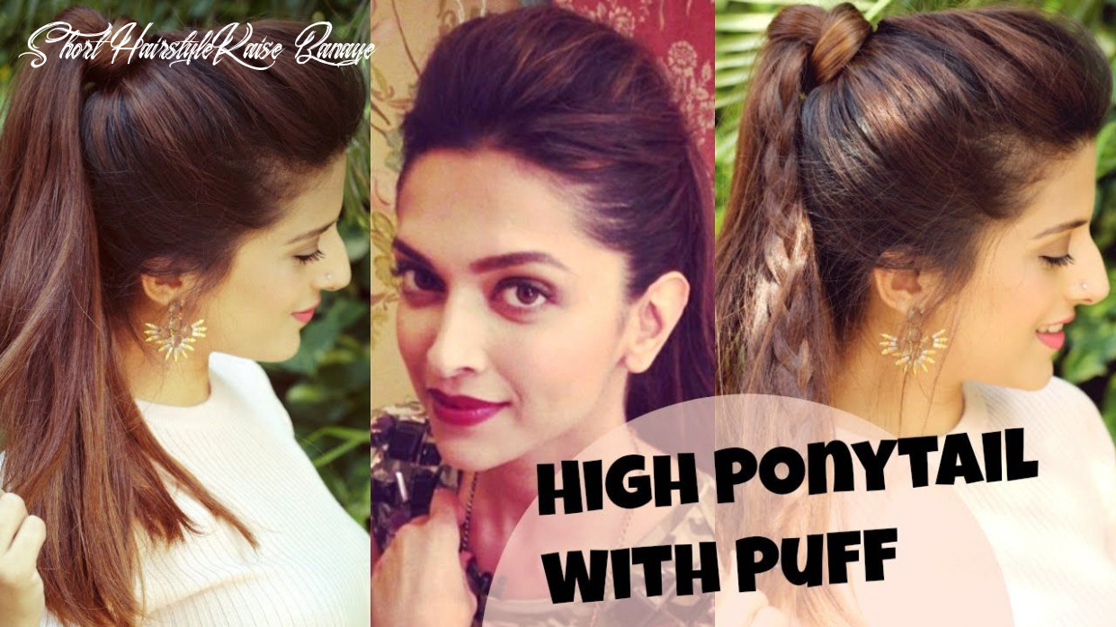 10 EASY Everyday High Ponytail Hairstyles With Puff For School ...