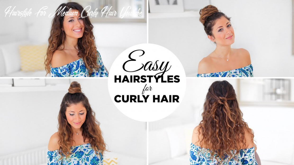 10 easy hairstyles for curly hair hairstyle for medium curly hair youtube