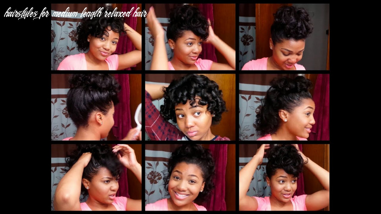 10 easy hairstyles for relaxed hair || styles for curled hair! hairstyles for medium length relaxed hair