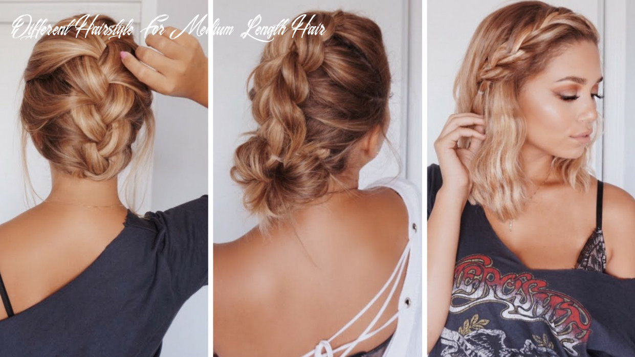 10 easy hairstyles for short/medium length hair | ashley bloomfield different hairstyle for medium length hair
