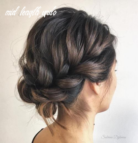10 easy updo hairstyles for medium length hair in 10 mid length updo