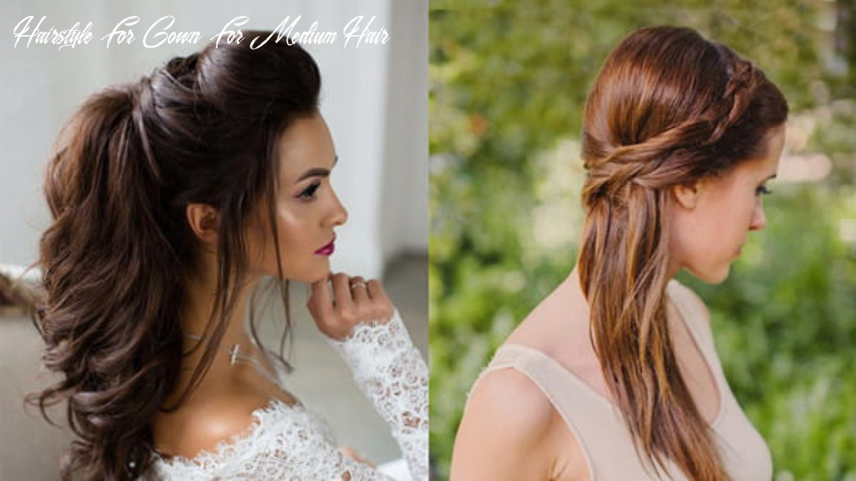 10 flamboyant hairstyles for gown to adorn | indian fashion blog