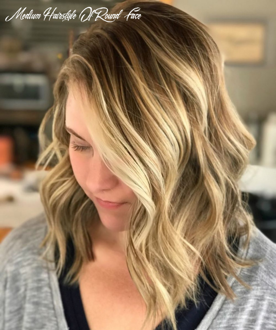 10 Flattering Medium Hairstyles for Round Faces in 10