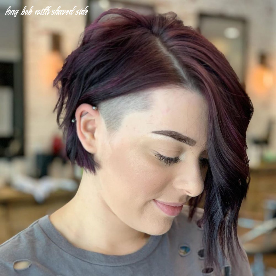 10 flattering undercut bob haircuts to consider this year long bob with shaved side