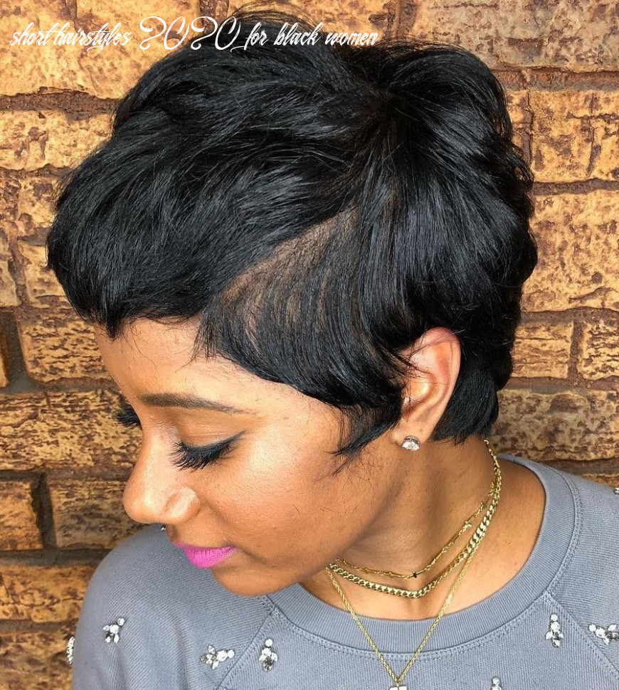10 great short hairstyles for black women   short hair with bangs