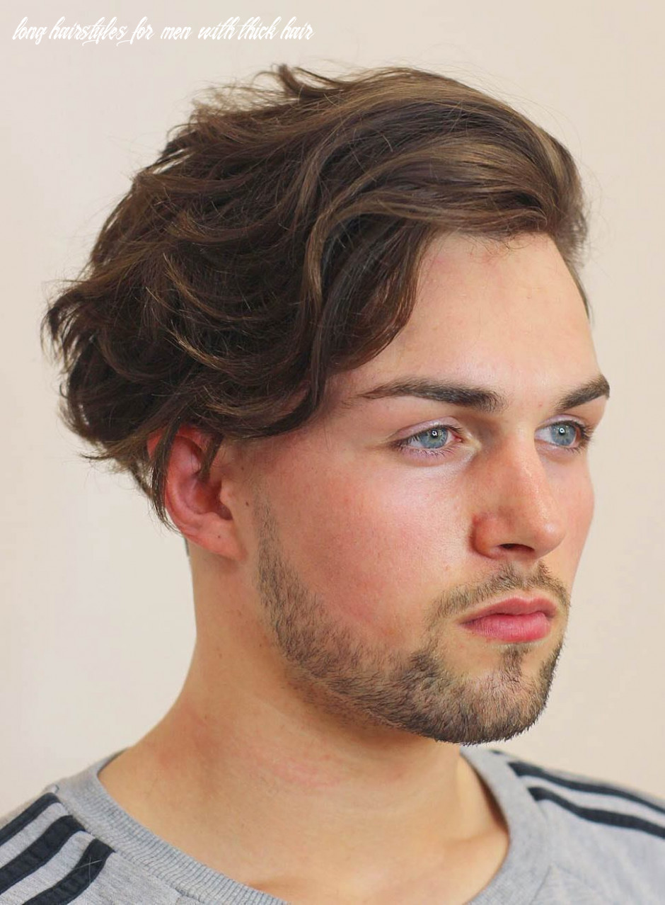 10 haircuts for men with thick hair (high volume) long hairstyles for men with thick hair
