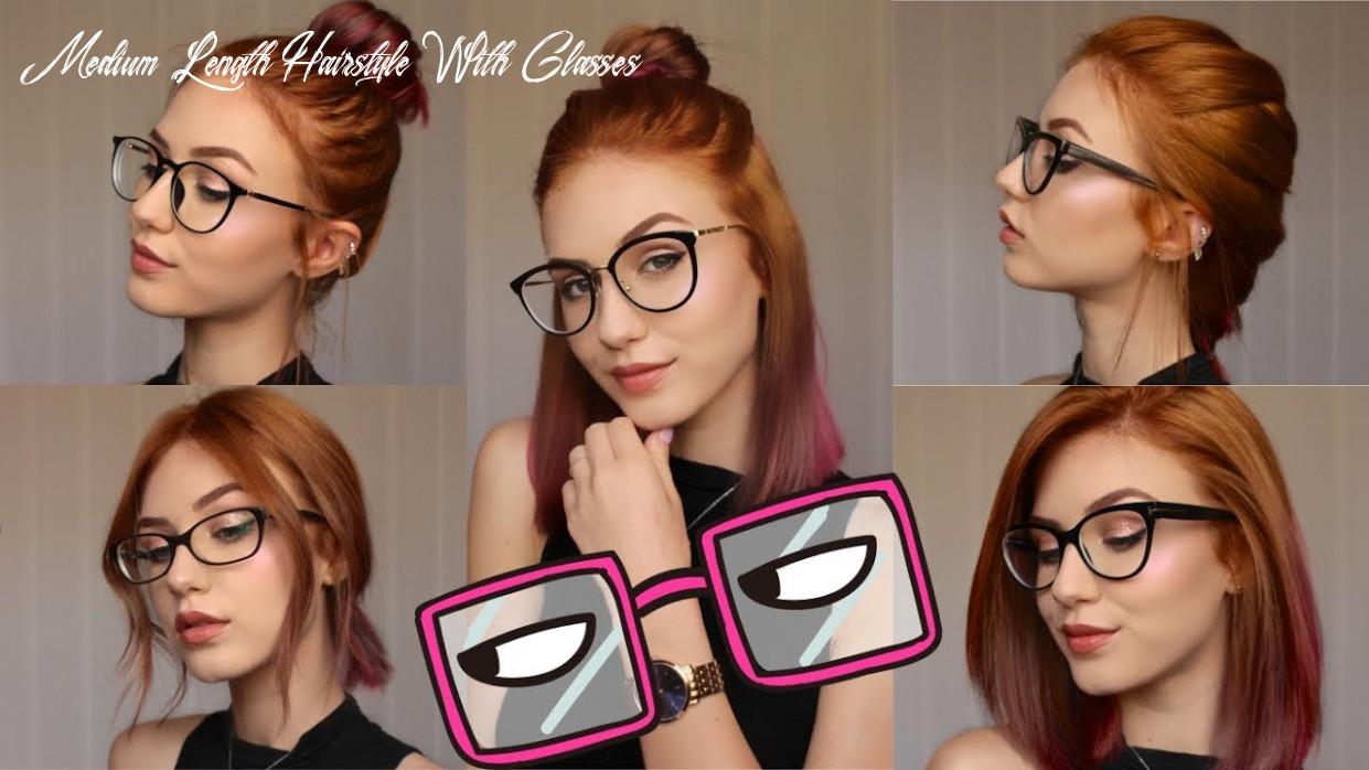 10 hairstyles for different glasses | stella medium length hairstyle with glasses