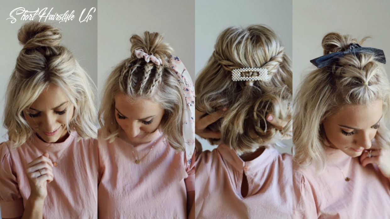 10 half up styles for short hair | w/ hair accessories short hairstyle up
