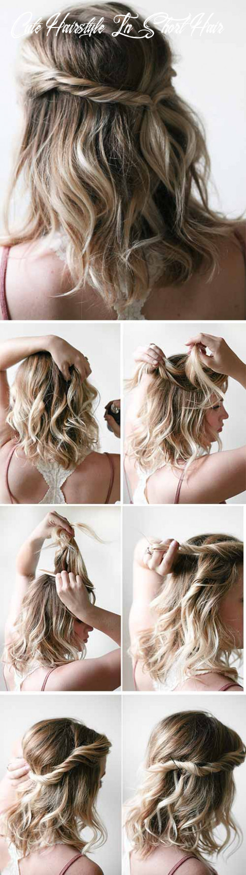 10 incredible diy short hairstyles a step by step guide cute hairstyle in short hair