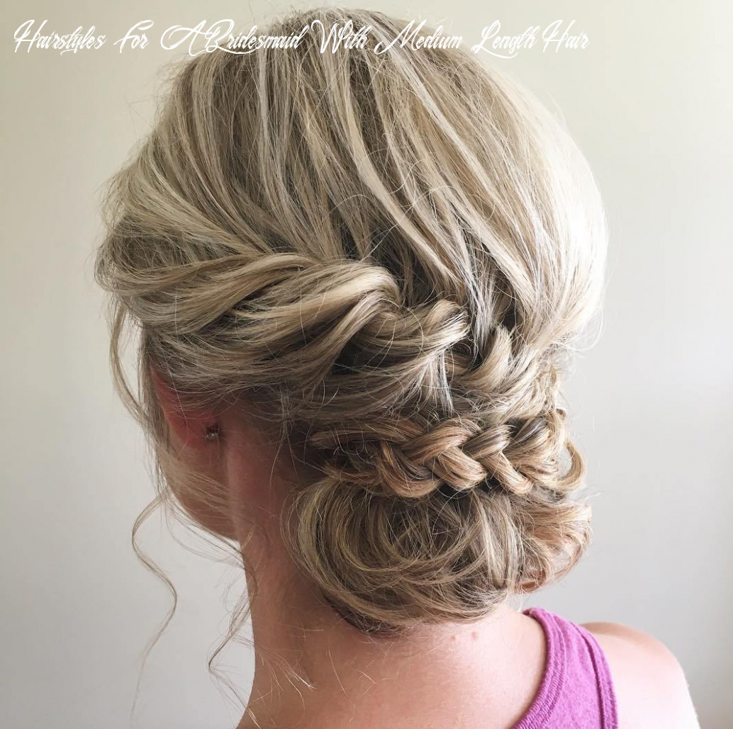 10 irresistible hairstyles for brides and bridesmaids hairstyles for a bridesmaid with medium length hair