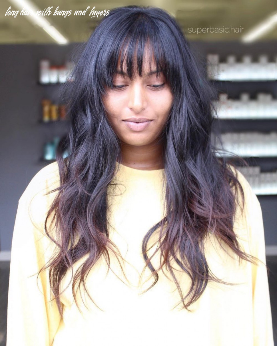 10 long shag haircuts trending right now long hair with bangs and layers