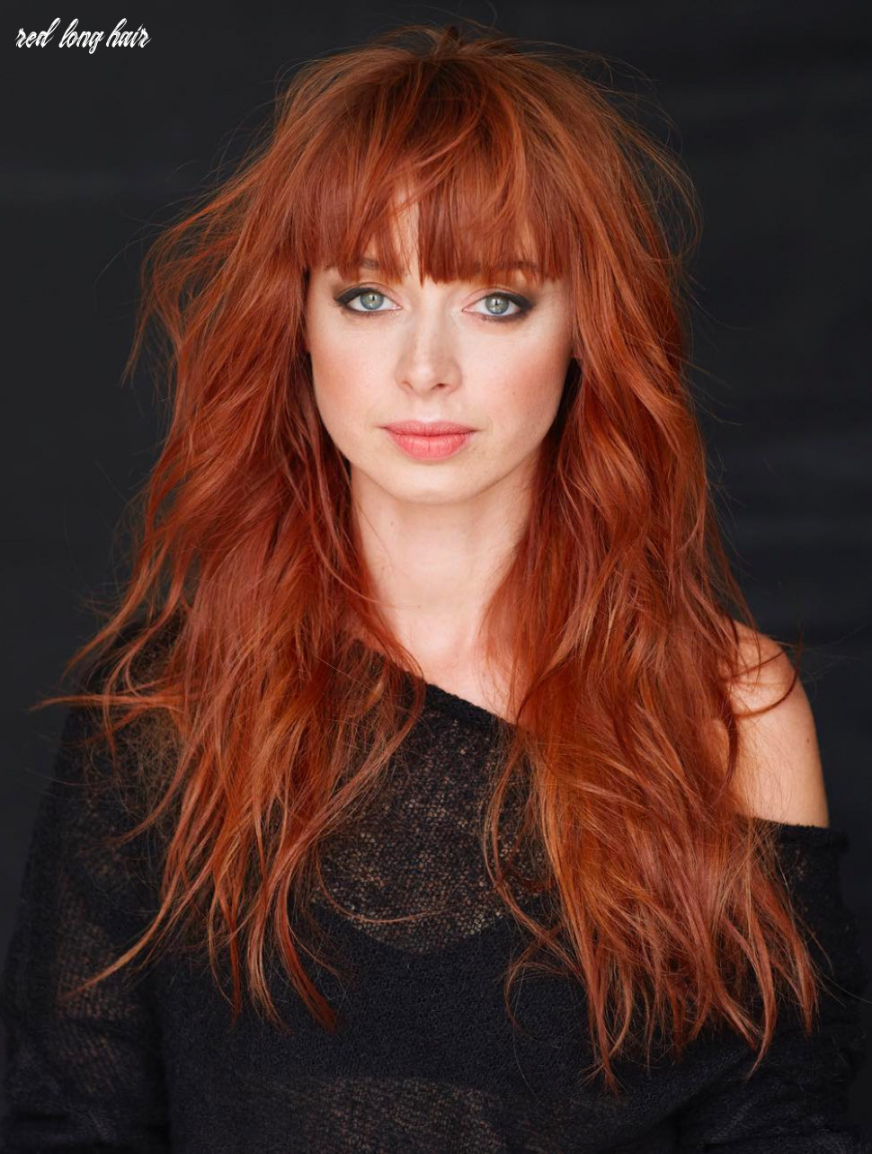 10 long shag haircuts trending right now red long hair