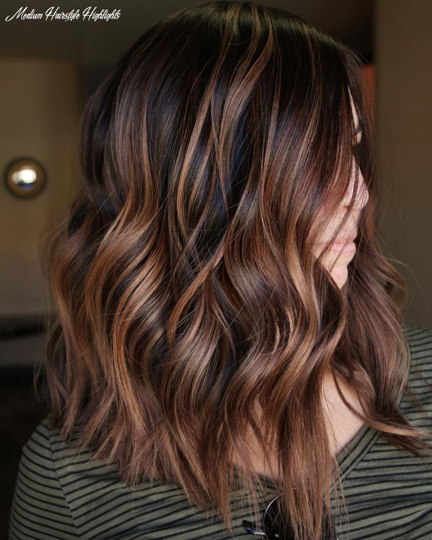 10 looks with caramel highlights on brown and dark brown hair