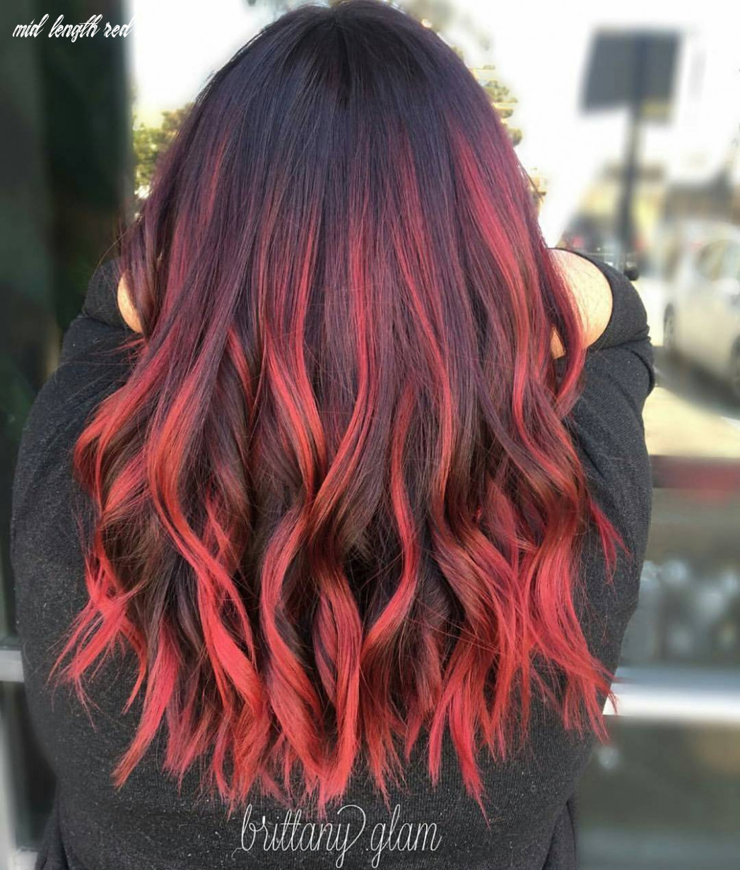 10 medium long hairstyles for thick hair in super beautiful colors