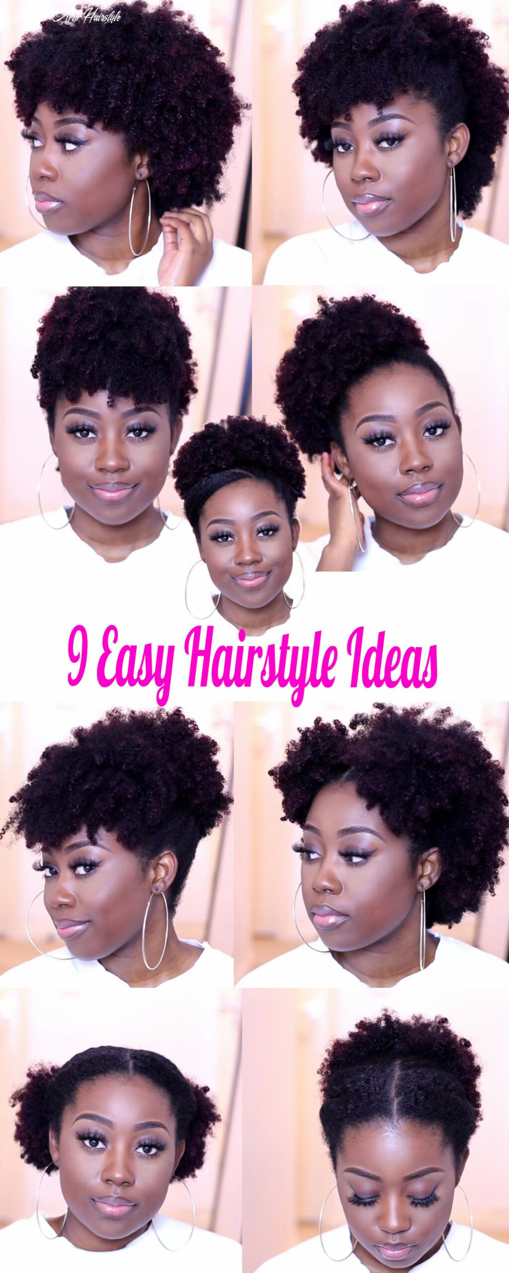 10 medium natural hairstyle ideas you can quickly create on the go