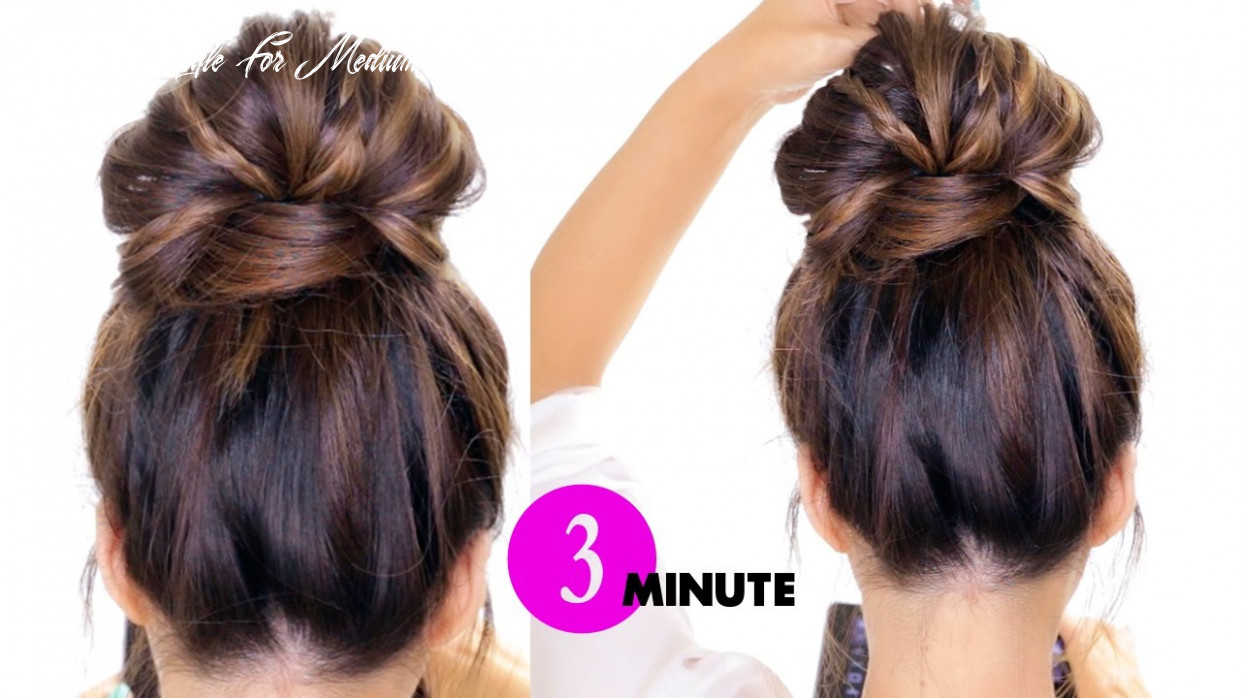 10 minute bubble bun with braids hairstyle ★ easy hairstyles easy hairstyle for medium hair youtube