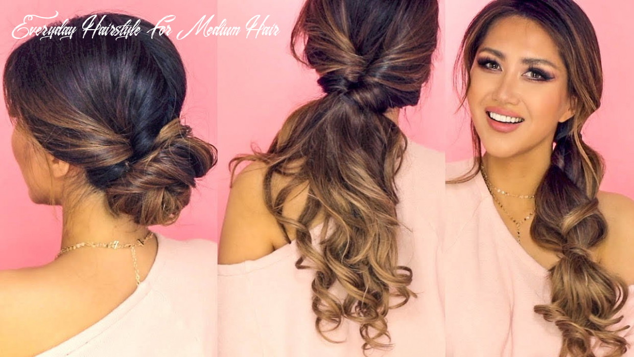 ❌ 10 minute lazy hairstyles | easy everyday updos for long ❌ medium hair everyday hairstyle for medium hair
