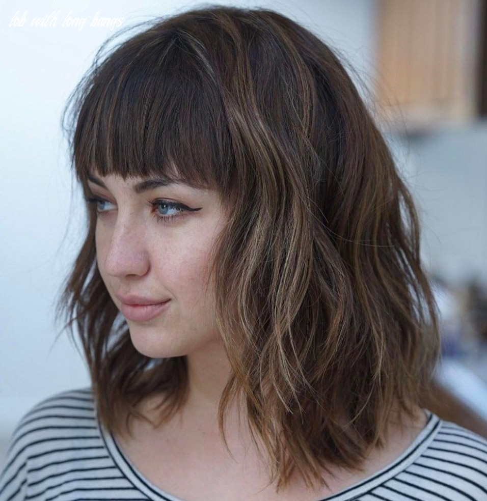 10 modern ways to style a long bob with bangs   long bob with