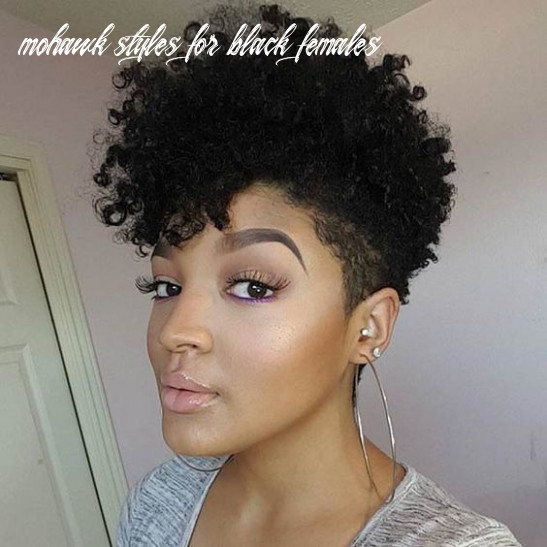 10 mohawk hairstyles for black women | tapered haircut, short