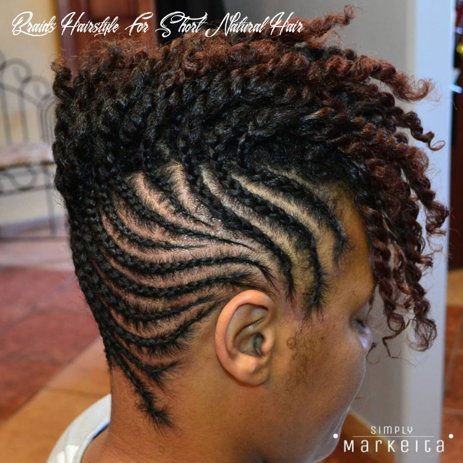 10 most inspiring natural hairstyles for short hair | cornrow updo