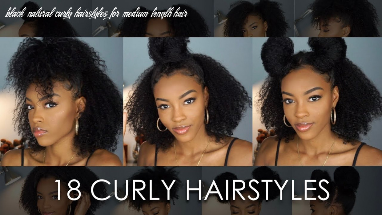 10 natural hairstyles for curly hair | slim reshae black natural curly hairstyles for medium length hair