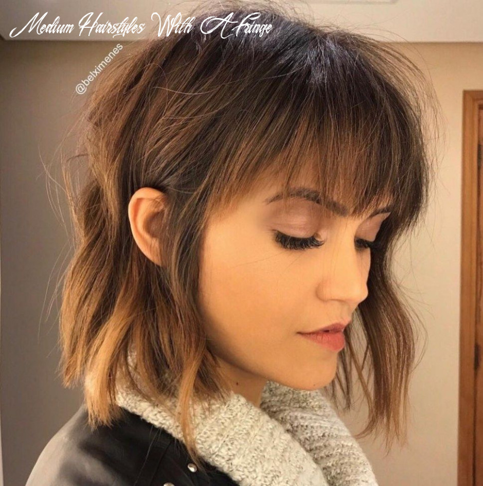 10 perfect medium length hairstyles for thin hair | bangs with