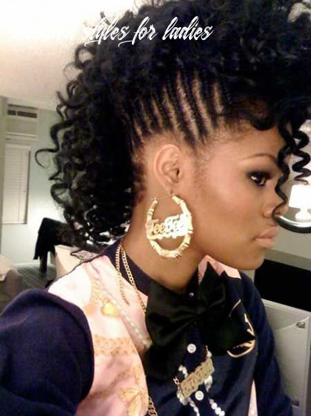 10 pictures of stylish curly mohawk hairstyles for black women