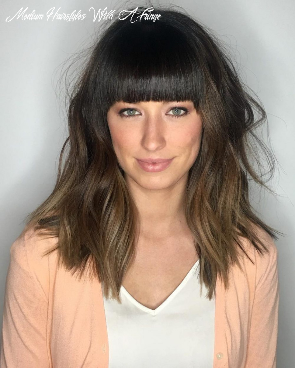 10 popular medium length hairstyles with bangs in 10 medium hairstyles with a fringe