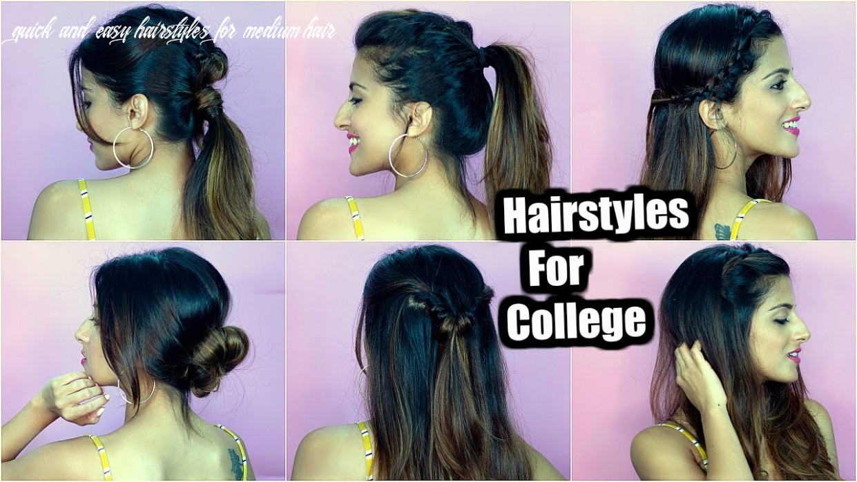 10 QUICK & EASY Back To College Hairstyles For Medium To Long Hair / Special  Giveaway