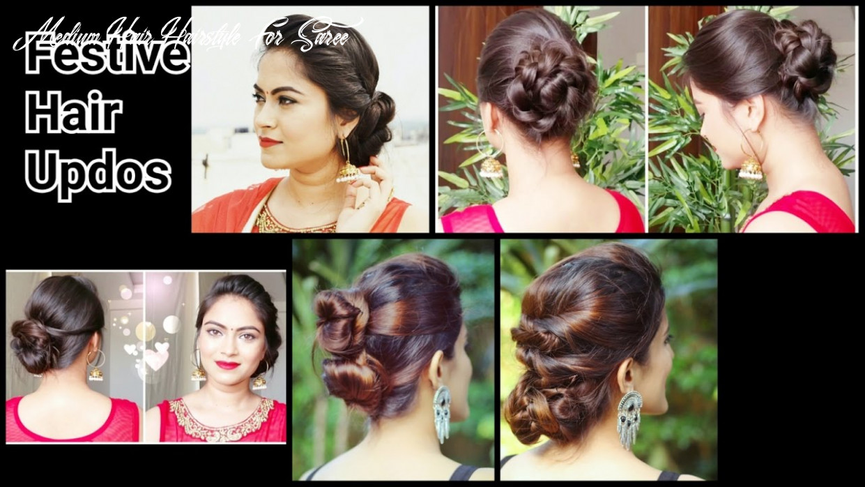 10 quick&easy indian bun hairstyles for saree/anarkali/lehnga//party hairstyles for medium/long hair medium hair hairstyle for saree