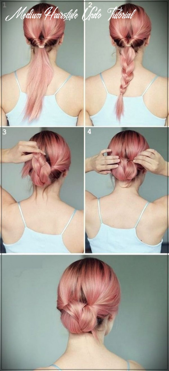 10 Quick and Easy Updo Tutorials for Medium Hair | Long hair updo ...