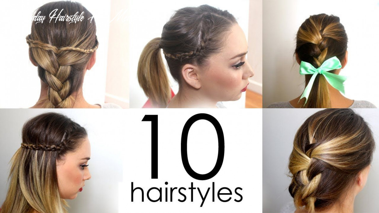 10 quick and simple everyday hairstyles in 10 minutes, how to, how
