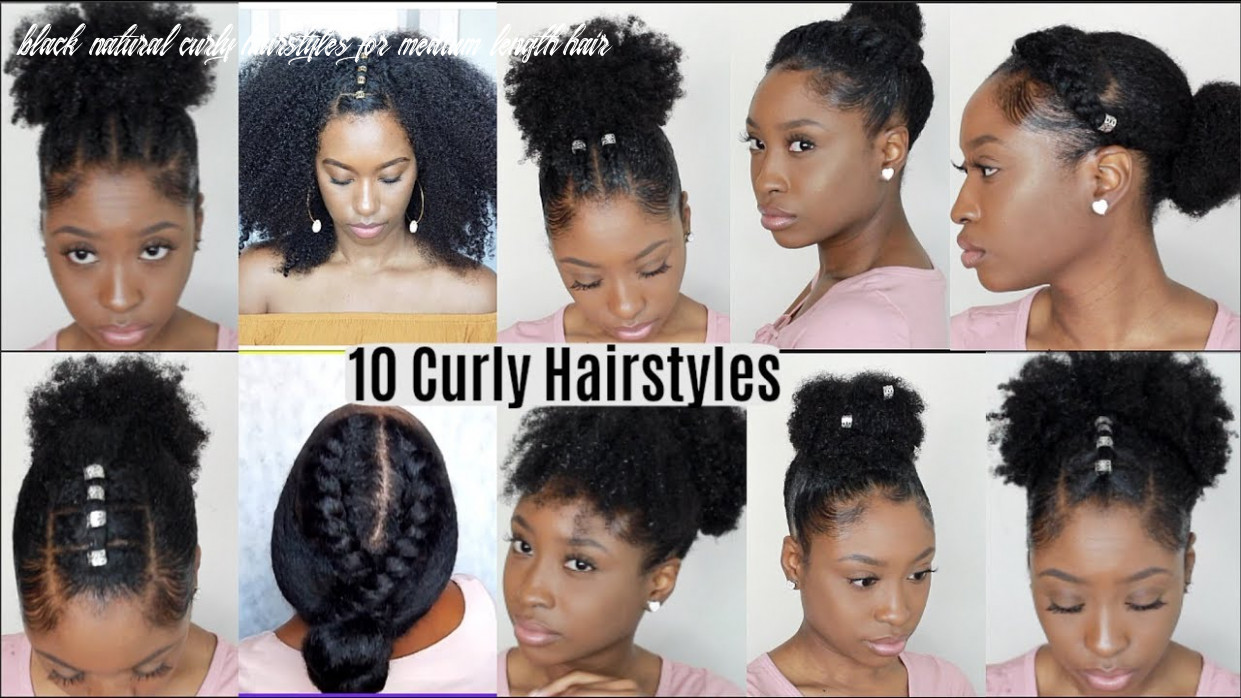 10 quick easy hairstyles for natural curly hair | instagram inspired hairstyles black natural curly hairstyles for medium length hair