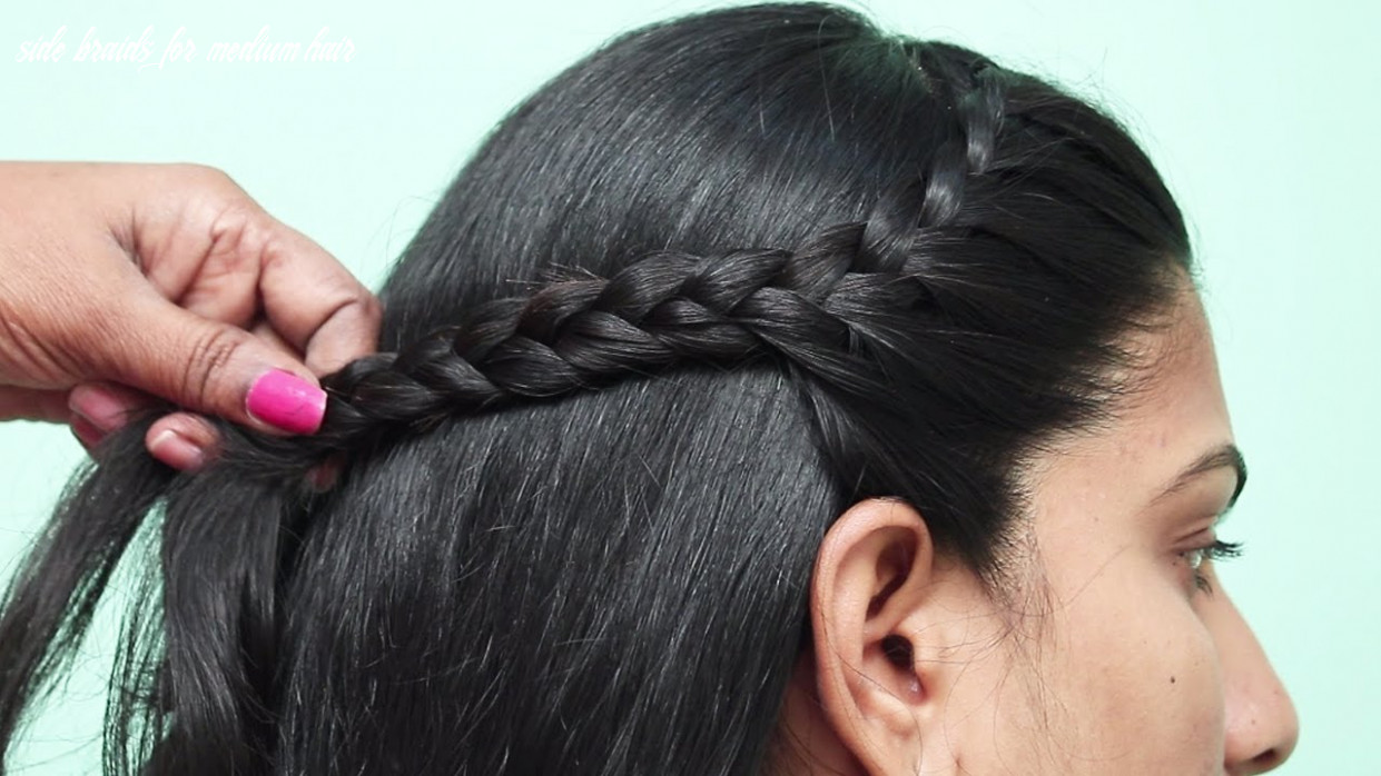 10 quick easy side braid hairstyle | hairstyle for medium hair | girls hairstyles side braids for medium hair