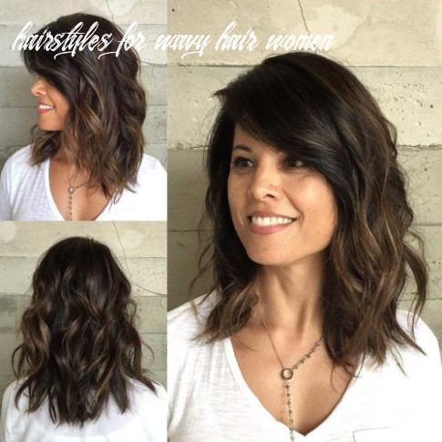 10 sensational medium length haircuts for thick hair in 10 hairstyles for wavy hair women