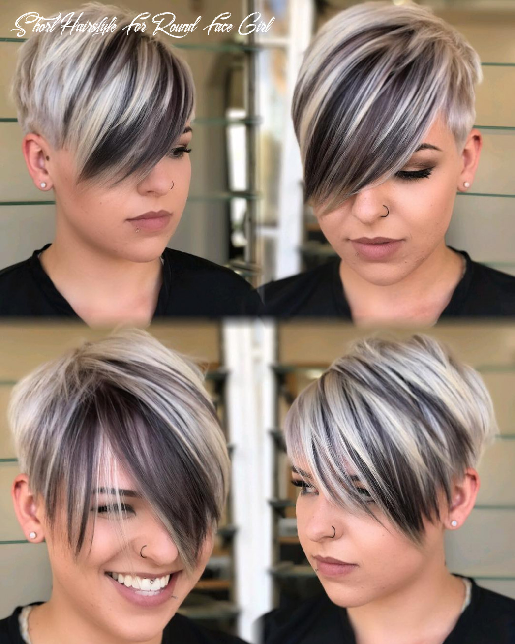 10 short hairstyles for round faces with slimming effect hadviser short hairstyle for round face girl