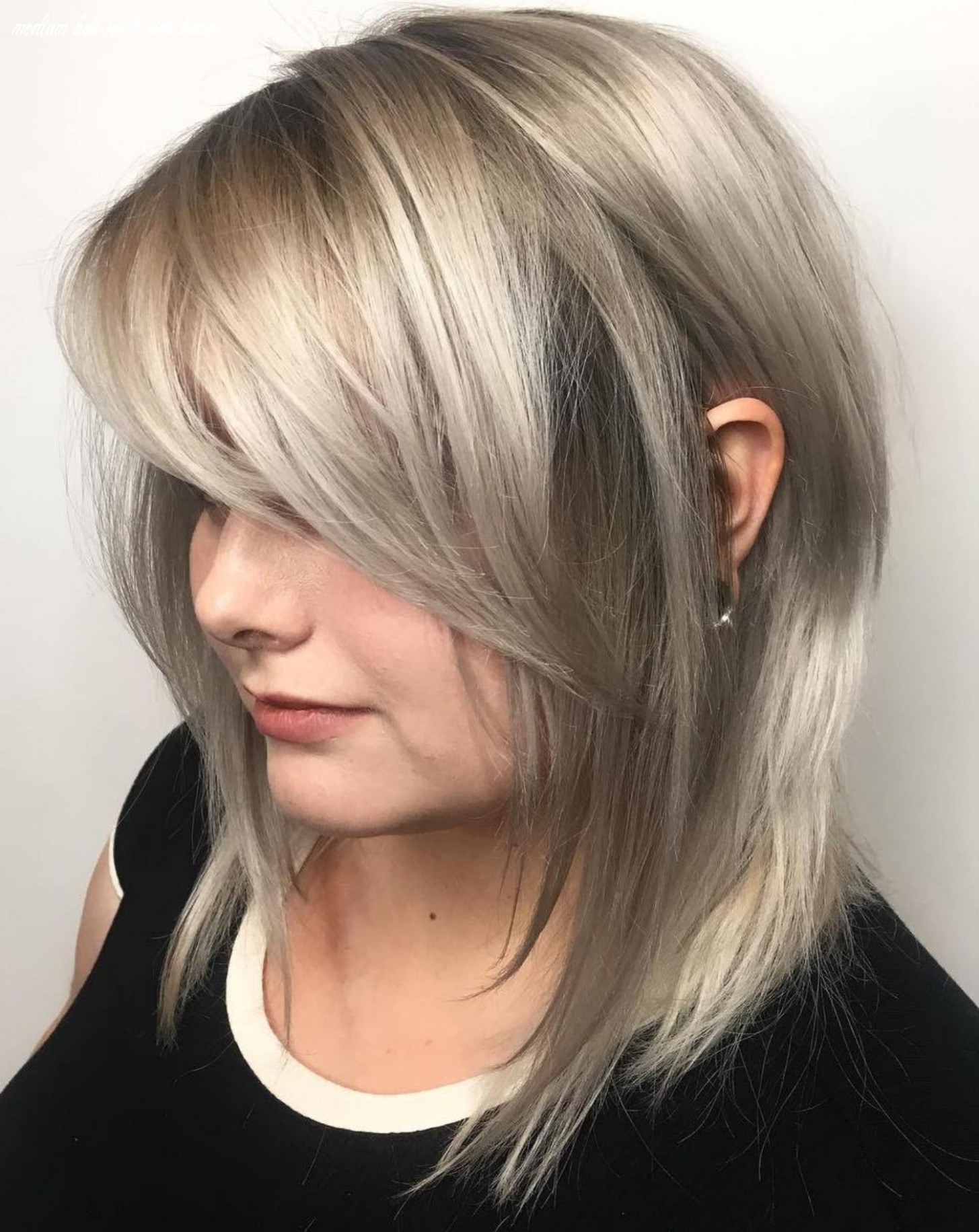 10 side swept bangs to sweep you off your feet | medium length