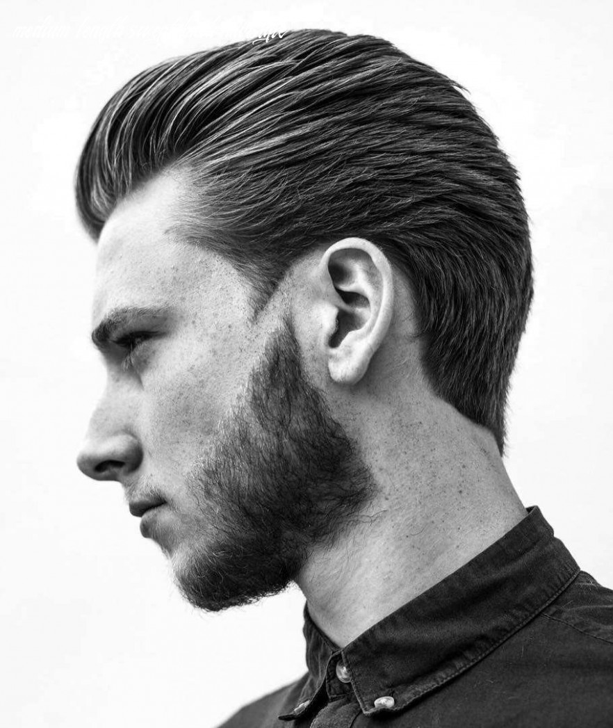 10 slicked back hairstyles: a classy style made simple guide medium length swept back hairstyle